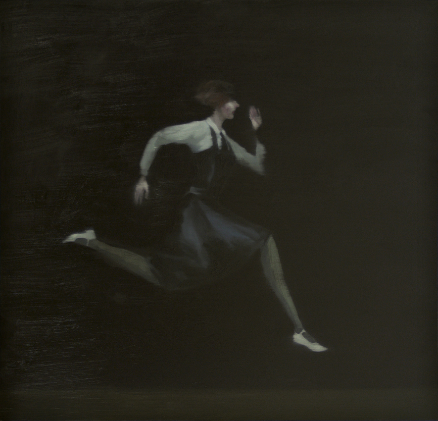 Running Girl. oil on board. 2016